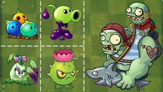Best strategy Plants vs Zombies   Goo Peashooter and Bowling Bulb pvz2