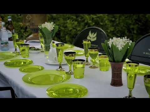 Пластиковая Одноразовая Посуда для фуршетов, выездных банкетов, пикников, свадеб.