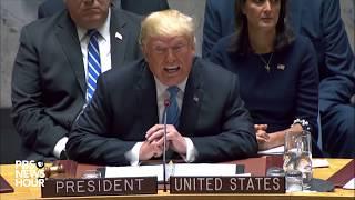 WATCH: Trump chairs U.N. Security Council meeting
