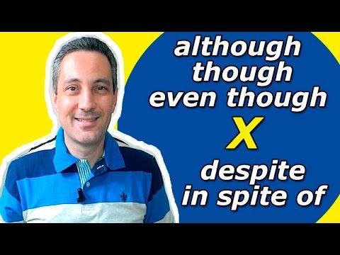 Qual a diferença entre although, though, even though x despite,in spite of