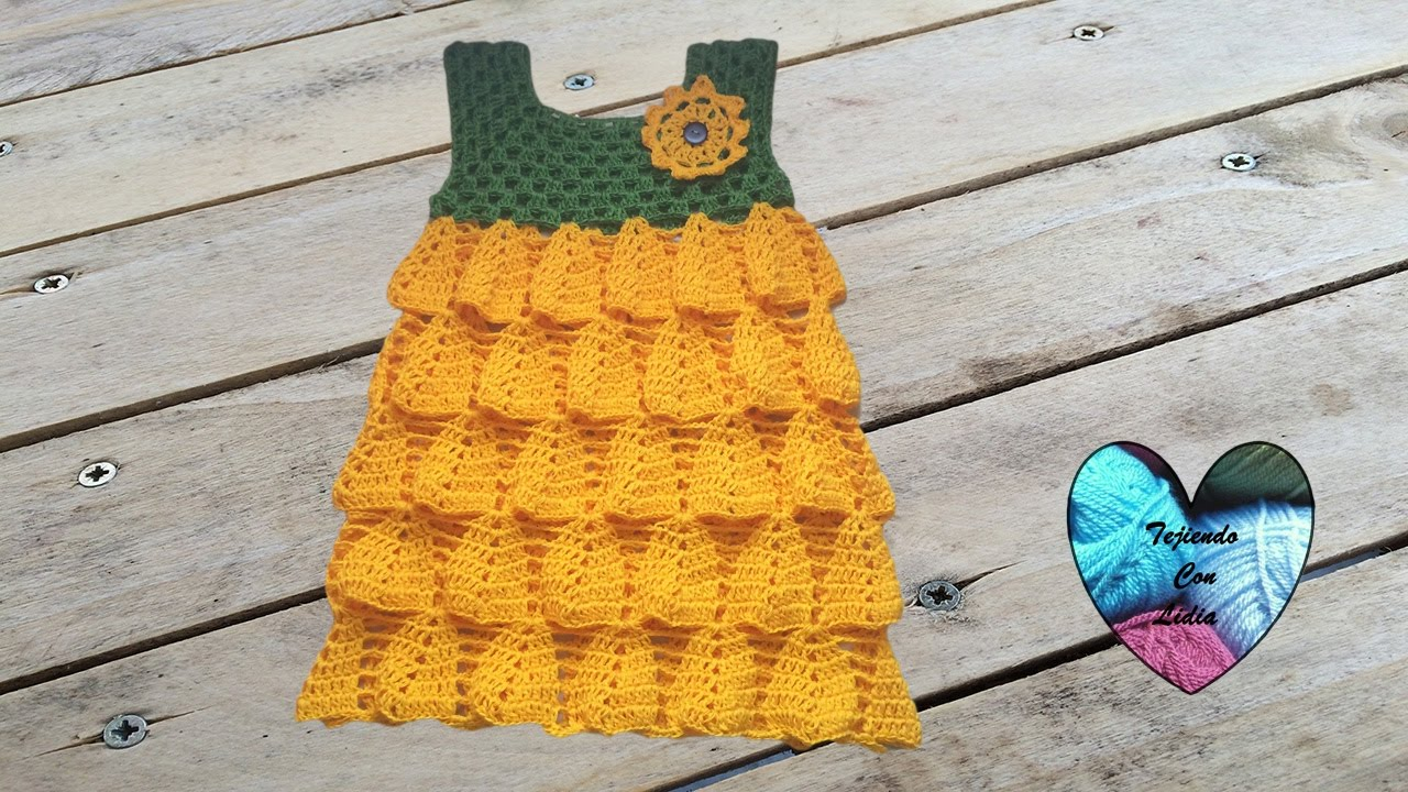 Vestido Girasol Tejido A Crochet Parte 2 Robe Tournesol Au Crochet Partie 2