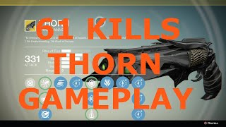 Destiny PvP: 61 kills on Control (Thorn/Final Boss/Corrective Measure)