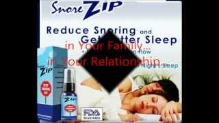 Snore Zip - All Natural Homeopathic Spray Formula to Stop Snoring