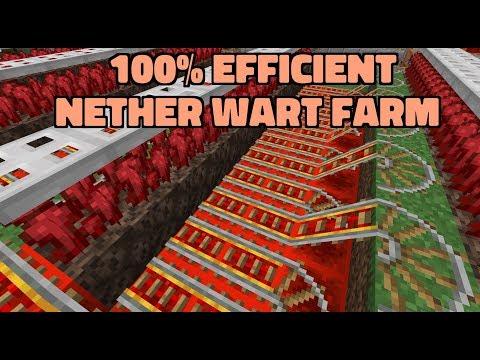 100% Efficient Nether Wart Farm | 1.14-1.15.2+