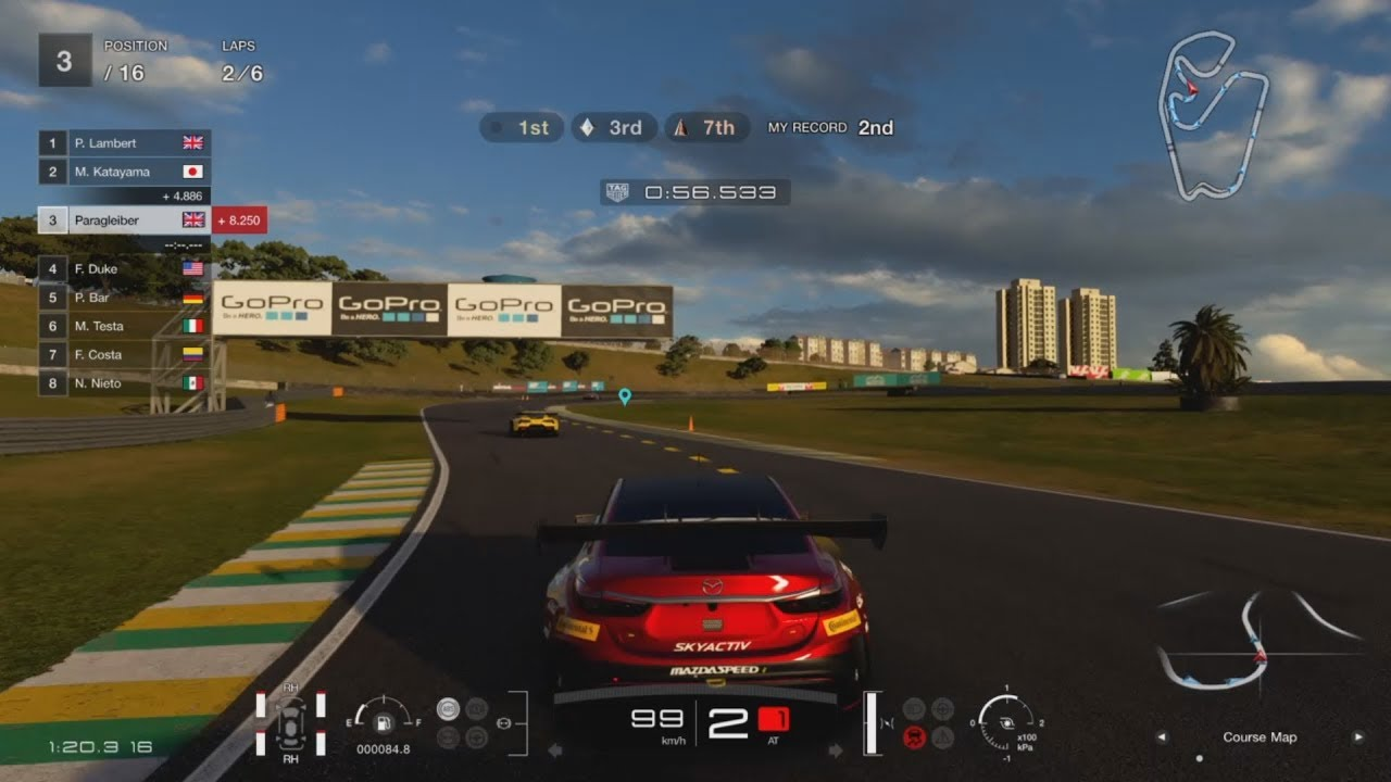 gran turismo sport demo interlagos 6 lap sprint race with pit stop gold medal youtube. Black Bedroom Furniture Sets. Home Design Ideas