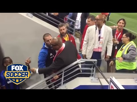 Didier Drogba confronts heckling fans