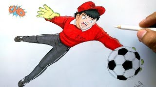 Cómo Dibujo a BENJI PRICE (SUPERCAMPEONES). How To Draw Genzo Wakabayashi (Capitan Tsubasa)