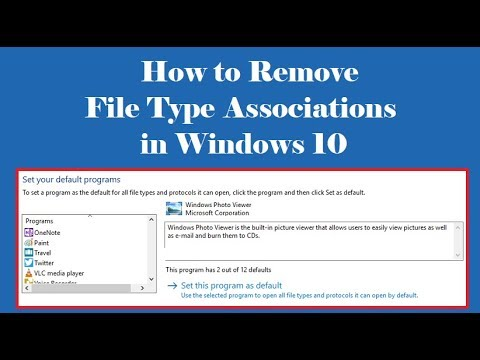 How to Remove File Type Associations in Windows 10