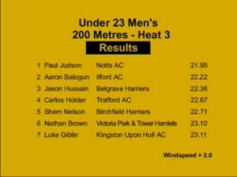 U23M 200m - 2008 AAA's Champs