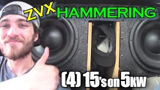 5000 WATT Subwoofer EXCURSION w/ Slow Motion Woofer FLEX & Pounding BASS on 4 15