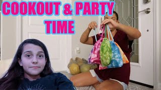 COOKOUT WITH FRIENDS! GRWM FOR ELLIE'S PARTY! EMMA AND ELLIE