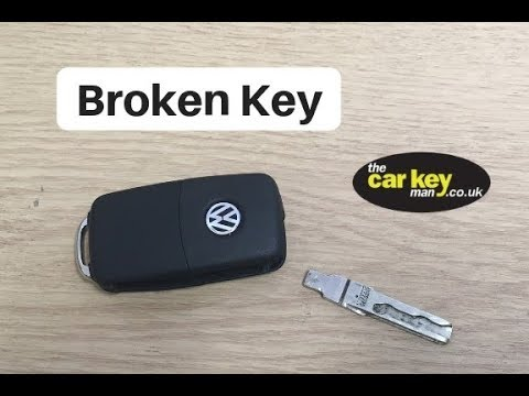 VW Skoda Seat Broken Key HOW TO Fix Snapped Blade