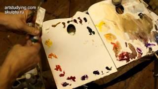 О палитре и расположении красок - Обучение живописи. Масло. Введение, 2 серия