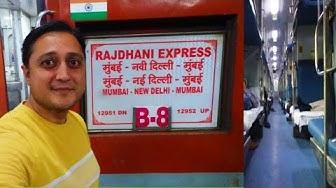 New Delhi to Mumbai in Rajdhani Express | India's Fastest Rajdhani Express