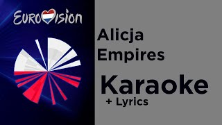Alicja - Empires (Karaoke) Poland 🇵🇱 Eurovision 2020