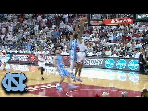 UNC's Joel Berry Chases Down Louisville For Incredible Block