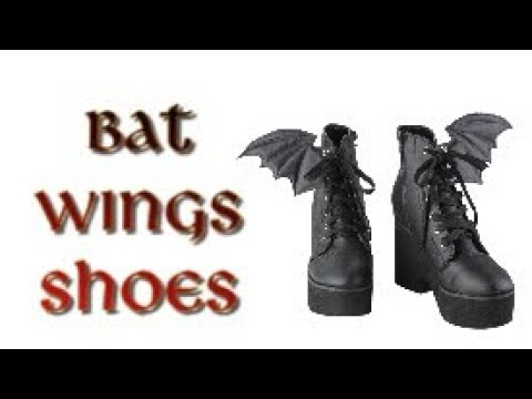 DIY - BAT WINGS SHOES 🦇 cheap and easy