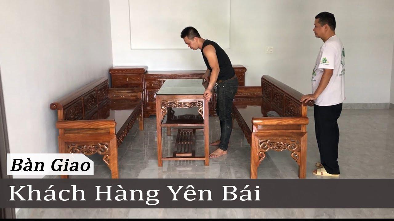 Trường Kỷ Gỗ Lim, Kệ Tivi Gõ Đỏ, Cuốn Thư Câu Đối Gỗ Mít Bác Cương TP Yên Bái