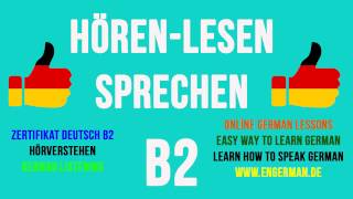 German Listening B2 | Hörverstehen B2 | #5 | Learn German