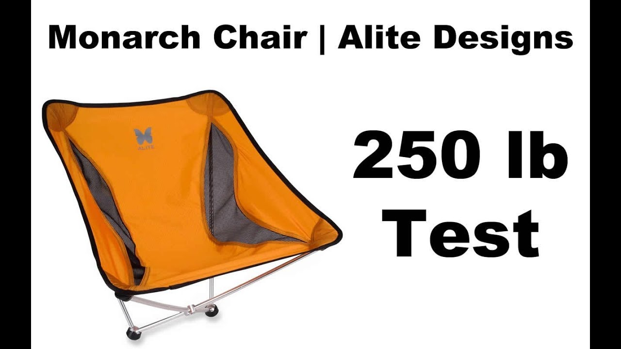 alite monarch chair warranty diy cushion no sew butterfly camp 250lb test youtube