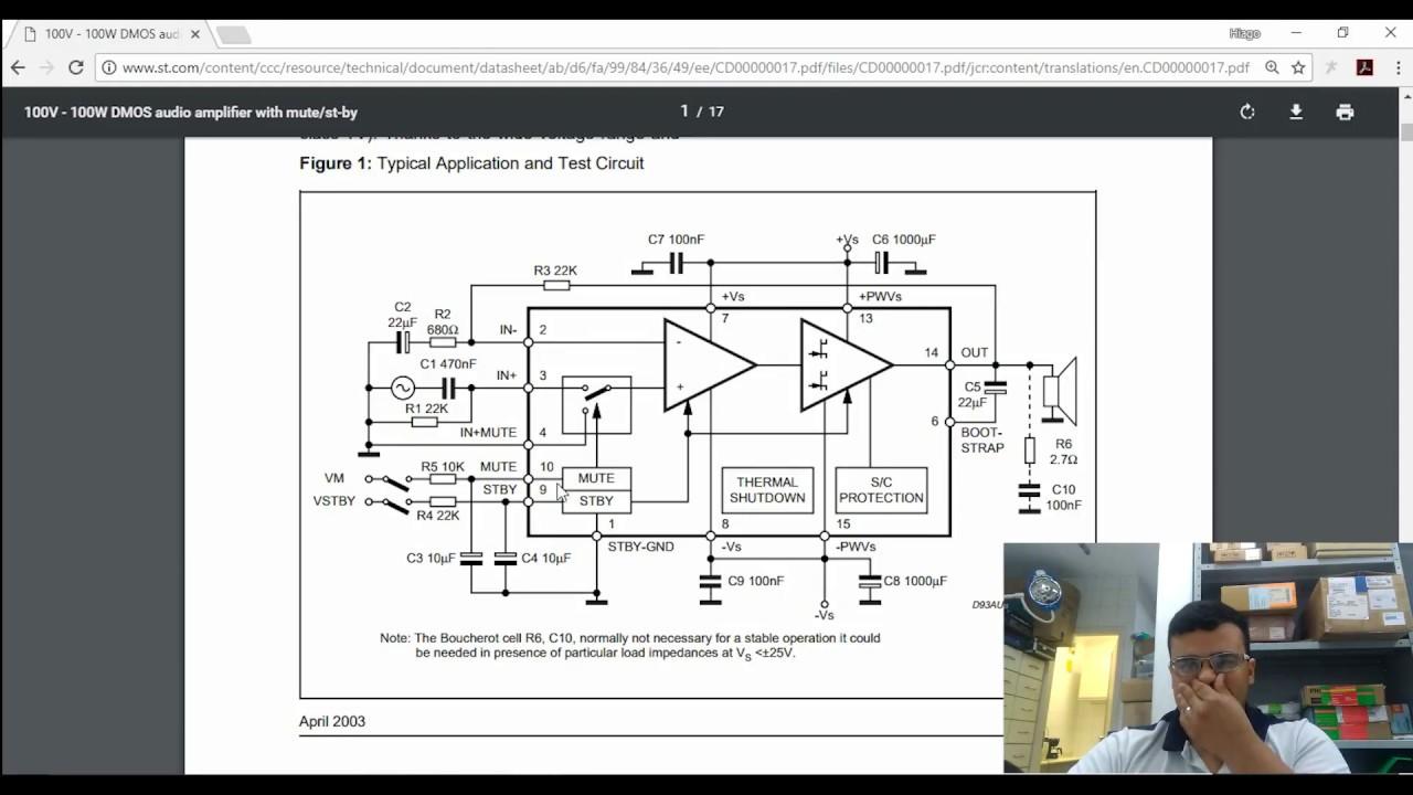 Video Aula 9 Amplificador De Som 100w Rms Tda7294 Ou Tda7293 Youtube Audio Amplifier