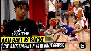 Basketball is Back! Top Ranked 5'9 Daeshun Ruffin Vs Keyonte George!