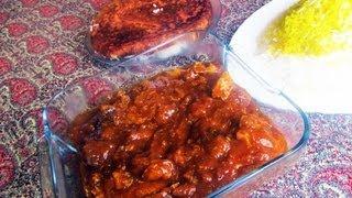 "Persian Chicken Plum Stew. ""Khoreshte Aloo"""