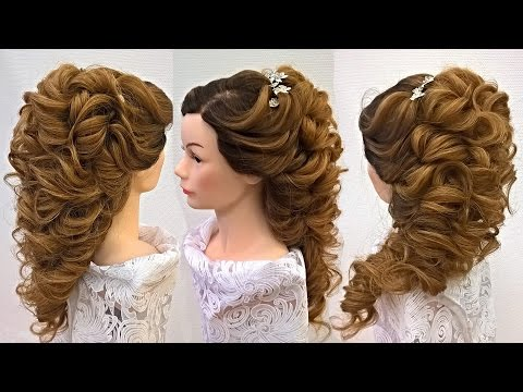 Свадебная причёска на длинные волосы .Греческая коса.Демонстрация урока дистанционного обучения.