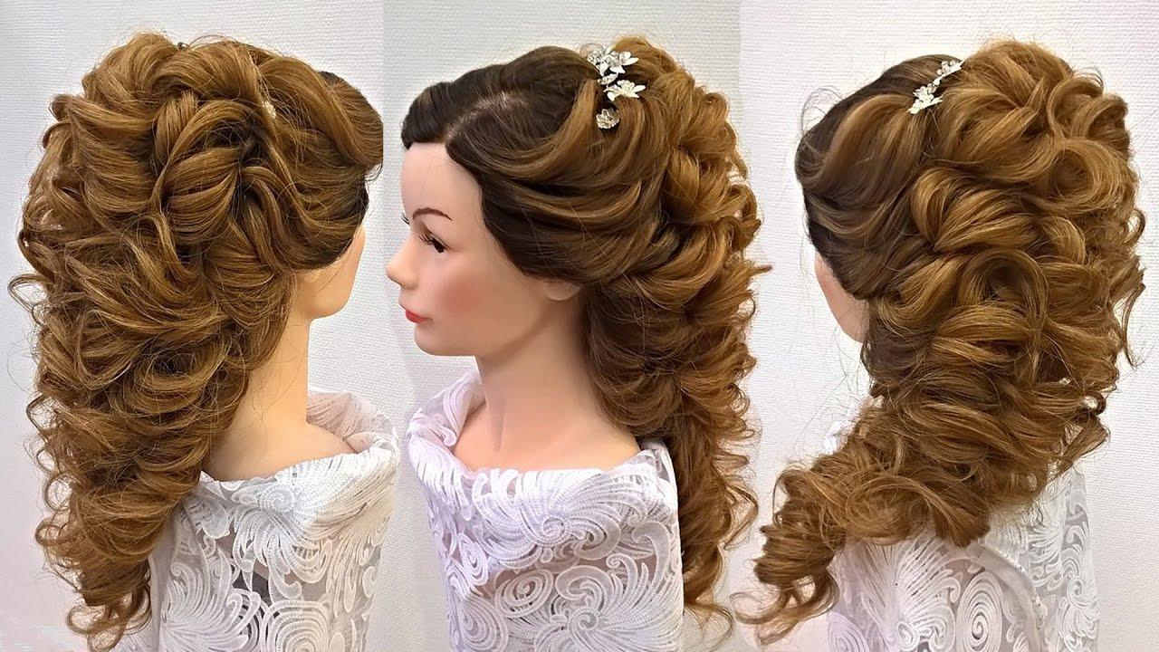 Свадебная причёска на длинные волосы .Греческая коса ...