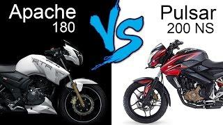 tvs apache rtr 180 abs vs bajaj pulsar 200 ns   comparison review extended