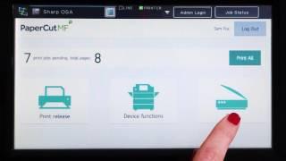 PaperCut MF for Sharp OSA Multifunction Devices Interface Walkthrough