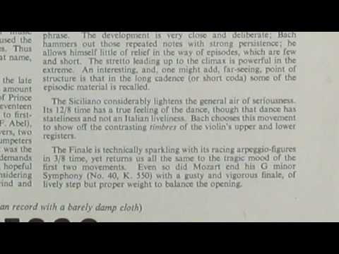Ossy Renardy Johan Sebastian Bach Sonata no 1 in g minor for unaccompanied violin BWV 1001 recorded 1952 Part 1