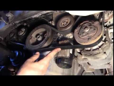 how to change your accessory belts on a v6