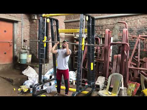 Smith Machine with Counter Balance Manufacturers || Smith Machine Exercise || Gym Factory in Meerut