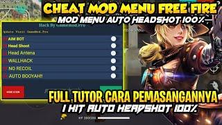 CARA CHEAT FREE FIRE NO ROOT V1.41 || AUTO HEADSHOT!!WALLHACK NO FC || MOD MENU APK