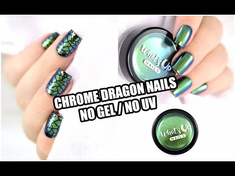 How To: Chrome Dragon Nail Art - NO GEL / NO UV! || Marine Loves Polish