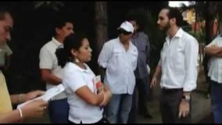 Alcaldía de Nuevo Cuscatlán intenta parar una obra de la que se jacta estar realizando.
