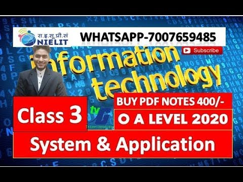 IT Tools And Network Basics CLASS #3(SYSTEM SOFTWARE AND APPLICATION SOFTWARE) O A LEVEL M1R5-M1R4