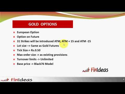 Commodity Options on Gold in India MCX Options