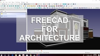 make a house in freecad : tutorial part 10