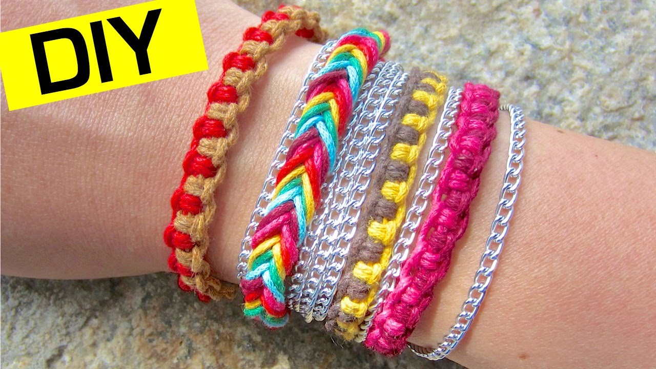 youtube pattern friendship to how make bracelets beginners diy watch bands diagonal