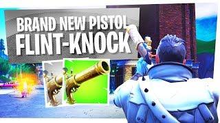 FIRST LOOK at the NEW FLINT KNOCK PISTOL - Fortnite New Flintlock Gun thumbnail