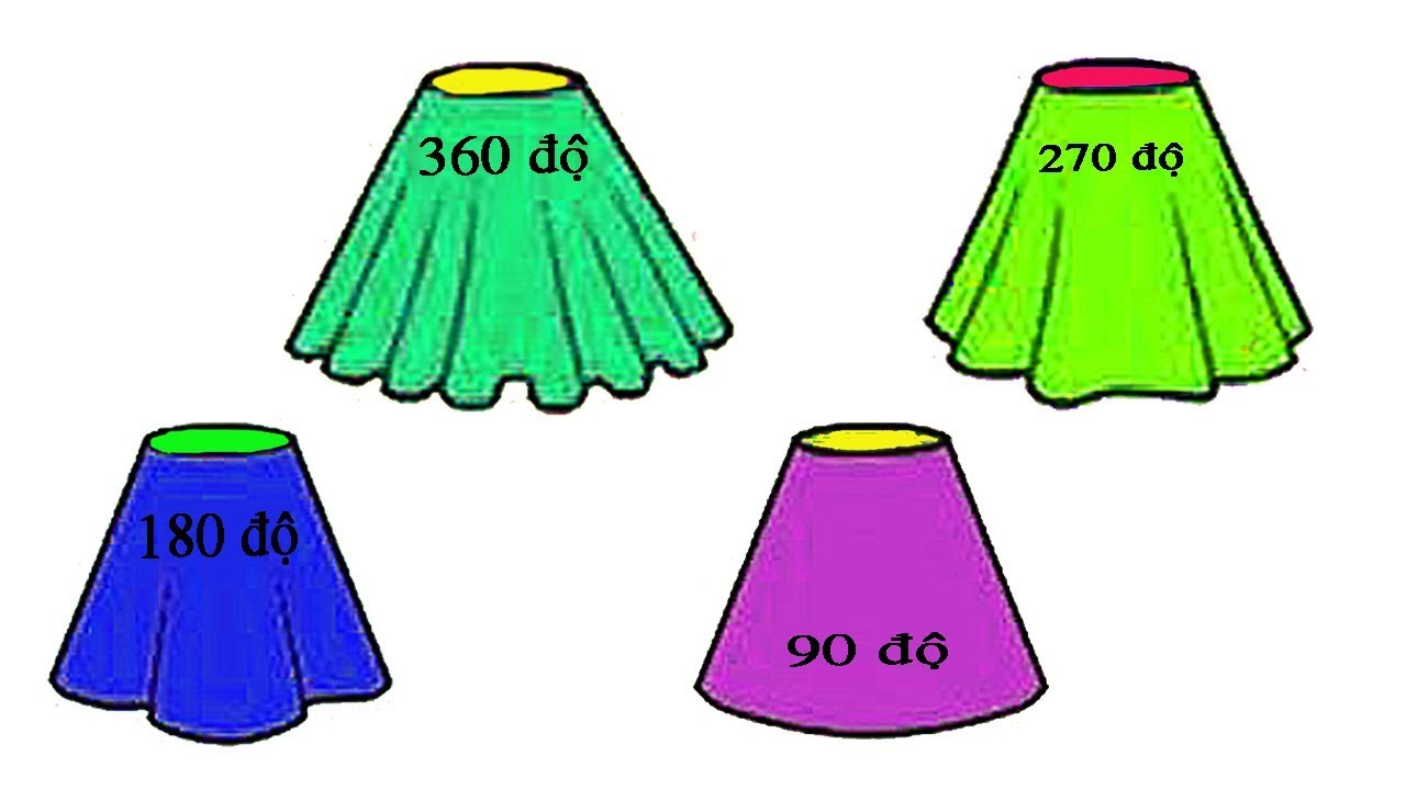 Cách Cắt váy xòe 360 độ – 270 độ – 180 độ – 90 độ | Kỹ Thuật May – Hai Lúa