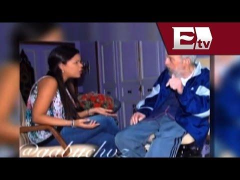 Fidel Castro se reúne con hija de Hugo Chávez en La Habana/ Global María Navarro