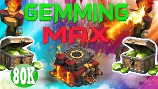 "CLASH OF CLANS - $1000! GEMMING TO MAX TOWN HALL 10 / GEM SPREE! ""INFERNO TOWER +FUNNY MOMENTS"" EP11"