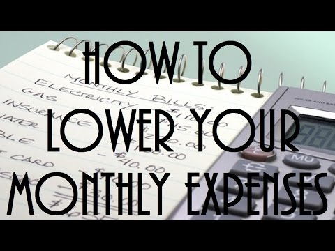 How To Lower Your Monthly Expenses