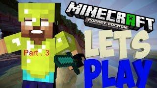 [BZC]Minecraft PE 0.9.5 #3ลงเหมืองขุดแร่
