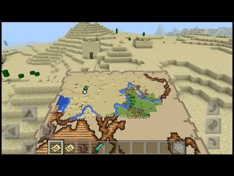 How TO Get A Treasure Map In Minecraft pe | minecraft pocket edition ...