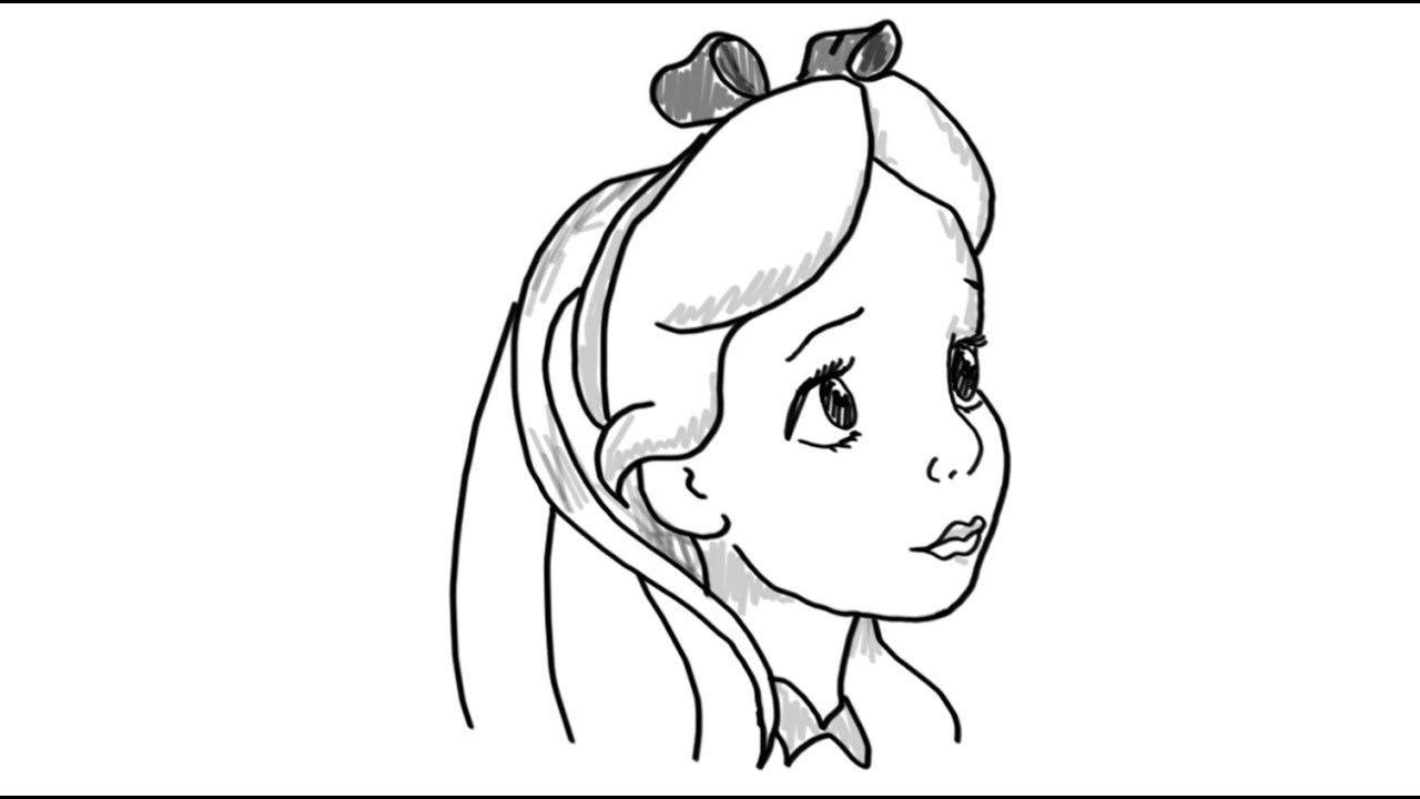 How to Draw an Easy Girl, Step by Step, Figures, People ... |Simple Girl Drawing
