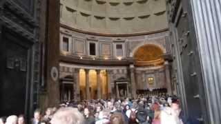 Рим. Пантеон(Построен в 126 году н. э., диаметр купола превышает 43 м - превышает диаметр купола собора Св. Петра!!! Высота..., 2013-06-02T08:56:18.000Z)
